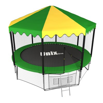 Батут Unix line 12 ft outside (Green) с крышей