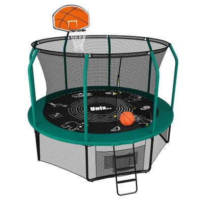Батут Unix line 10 ft Supreme Game (green) + Basketball